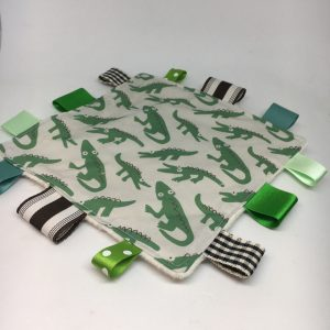 Sensory Tag Blanket Crocodile