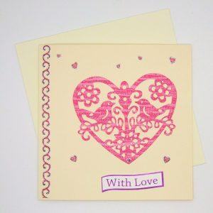 Handmade Love/Valentines Card - 600
