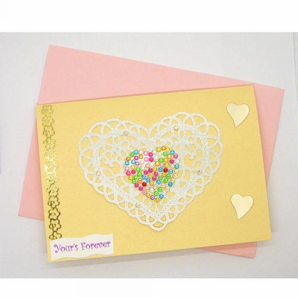 Handmade Love/Valentines Card - 606 - 606a