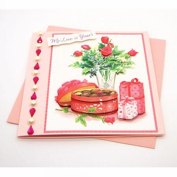 Handmade Love/Valentines Card - 607b - 607b