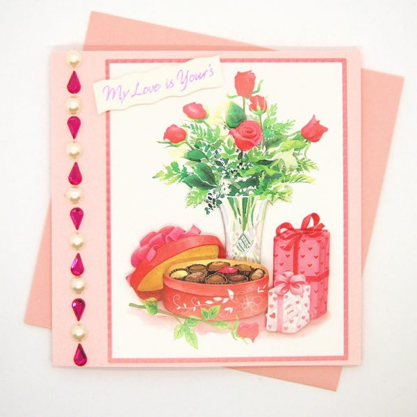 Handmade Love/Valentines Card - 607b - 607c