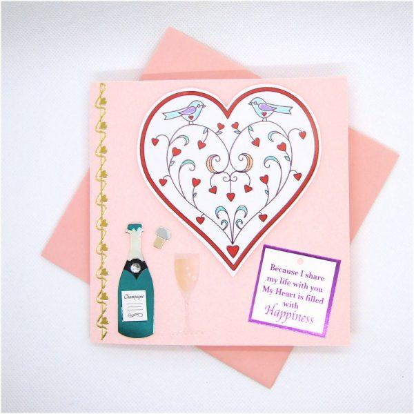 Handmade Love/Valentines Card - 608