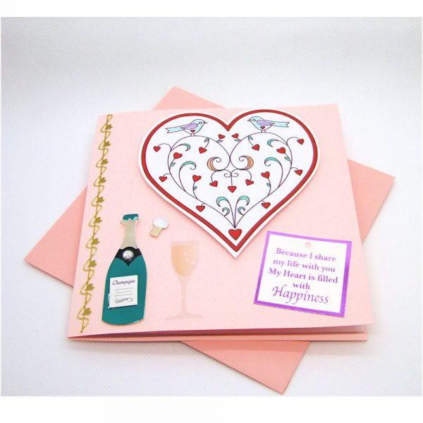 Handmade Love/Valentines Card - 608 - 608a