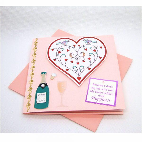 Handmade Love/Valentines Card - 608 - 608a