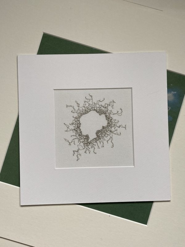 Silhouette Embroidery Wall Art (Grey)