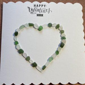 Seaglass Valentines Card