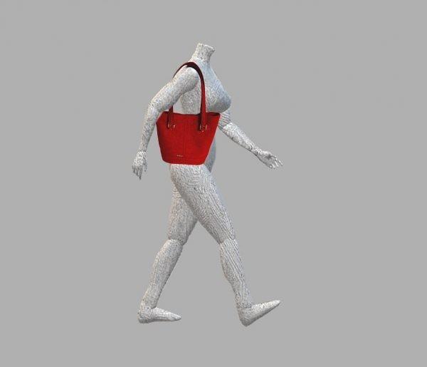 Red Tweed Shoulder Bag - A NeedleSketches Red Tweed Shoulder Bag size guide