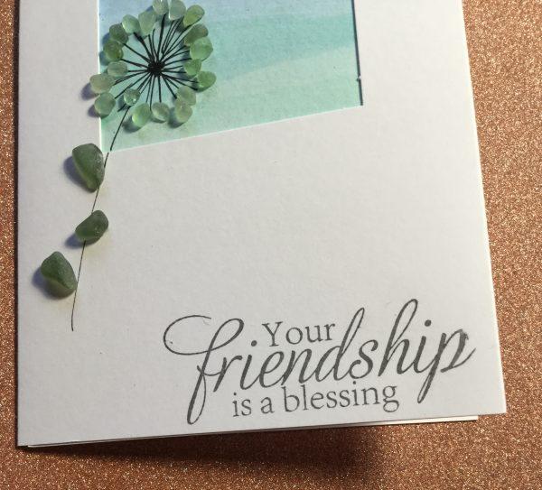 Seaglass and Watercolour Friendship Card - A2E4479F 5C38 4D9D A033 37DD4E35A6DF