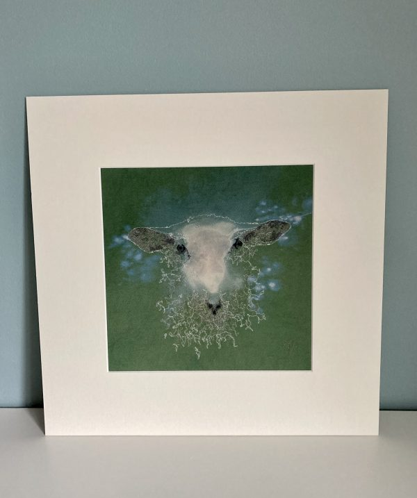 Embroidered and Hand Painted Sheep Wall Art 2