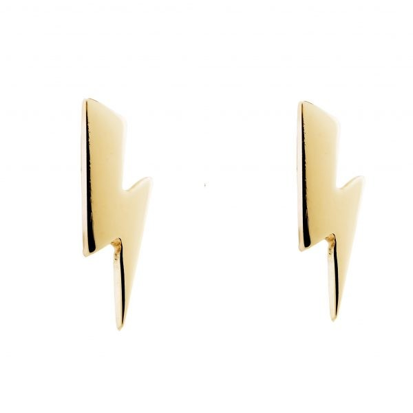 Bowie Bolt Earrings 9ct Yellow Gold