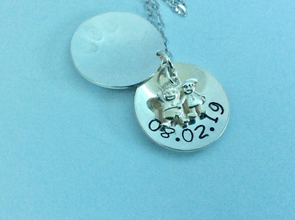 Engagement, Wedding Personalised Silver Open Locket - CFDBBACE 8F91 4FF6 864A 4ED3C7D6D6E7