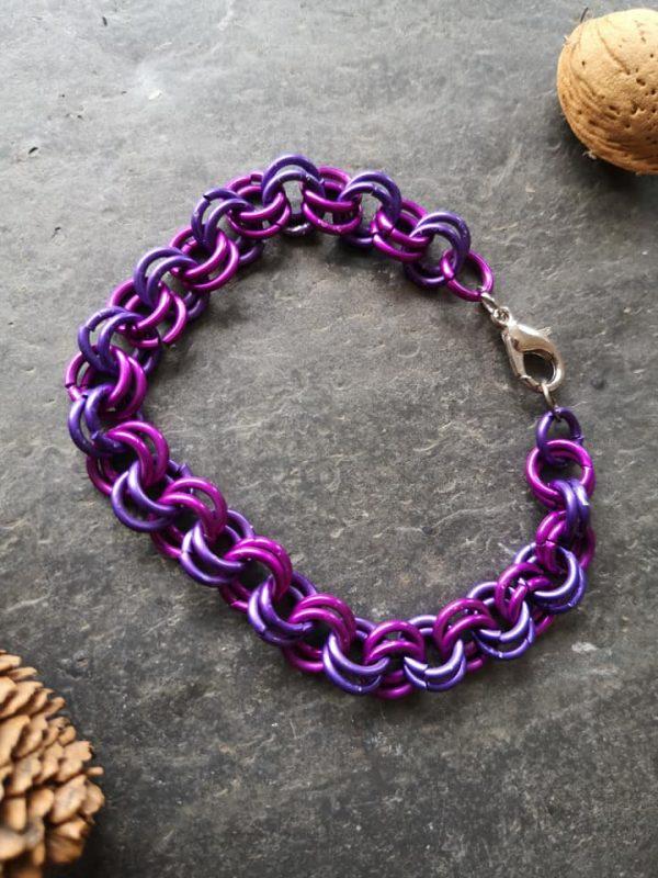 Double Link Bracelet - CM Double Link Purple