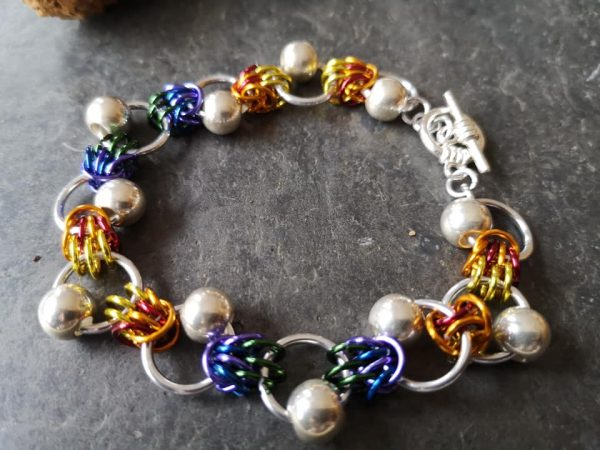 Tropical Rays Chainmaille Bracelet