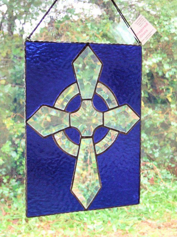 Stained-Glass Celtic-Cross Panel - Celtic Cross panel 2