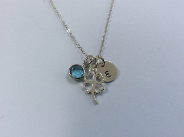 Good Luck Four Leaf Clover Shamrock Personalised Necklace