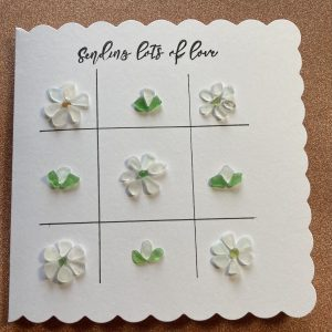 Sending Lots of Love Seaglass Flowers Card