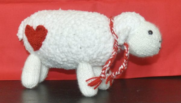 """It's All for Ewe"", Knitted Stuffed Sheep Toy - DSC 0018"