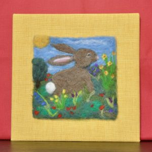 Springtime in the Meadow Needlefelted Original Art