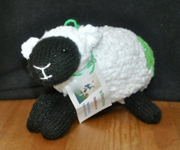 """It's All for Ewe"", Knitted Stuffed Sheep Toy - DSC 0331"