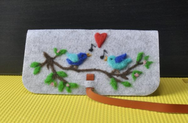 Be My Valentine Needlefelted Pouches