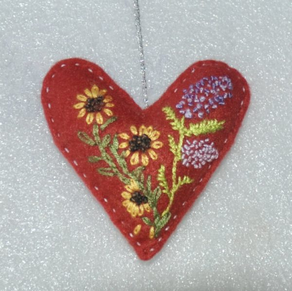 With Love One-of-a-Kind Embroidered Hearts