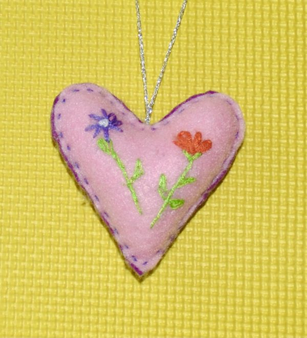 One-of-a-Kind Embroidered Heart - Purple - DSC 0952