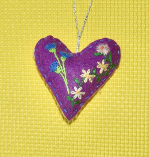 One-of-a-Kind Embroidered Heart