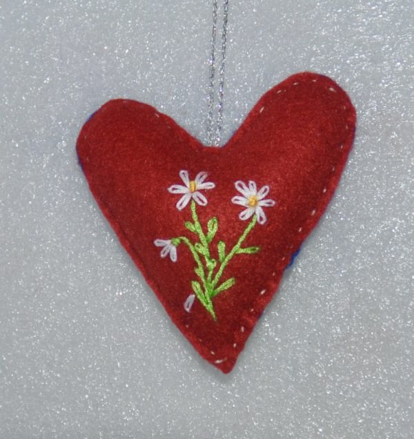 One-of-a-Kind Embroidered Heart - Blue - DSC 0956