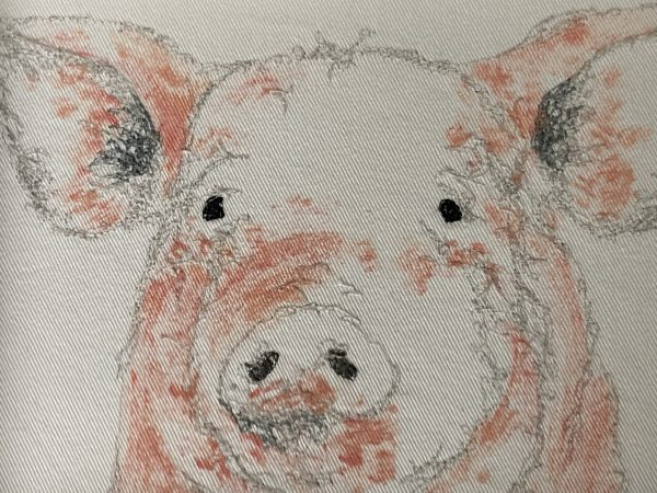 Embroidered and Painted Pig Frame 2 - E1F9D9B8 1C5D 4387 BE9E F70A7CD29C8D 1 201 a
