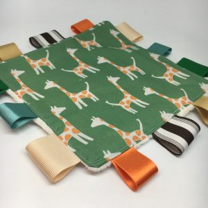 Sensory Tag Blanket Giraffe