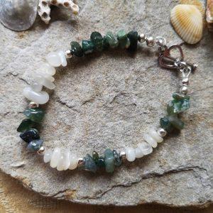 Emerald & Moonstone Bracelet