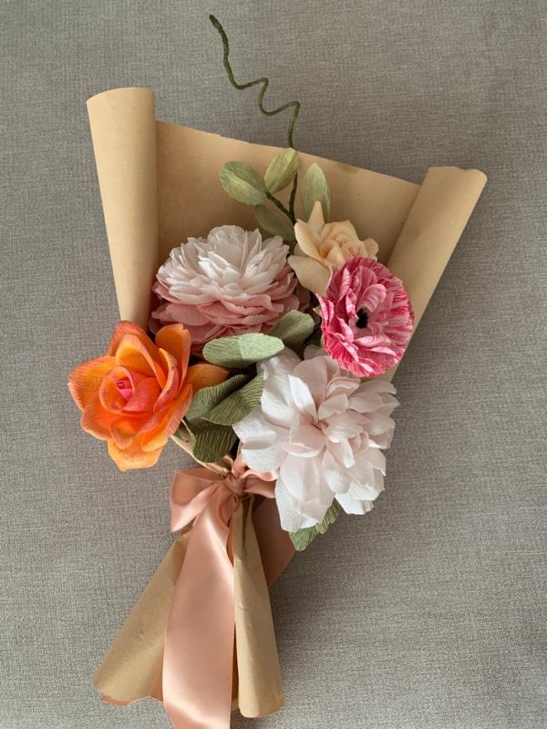Create Your Own Crepe Paper Flower Bouquet