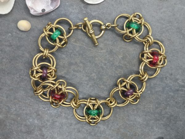 Jewelled Celtic Rings Chainmaille Bracelet - IMG 20200407 132004