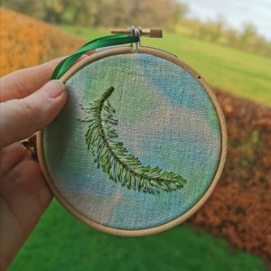 Memorial Embroidered Feather