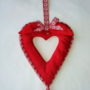 Love Heart Decoration with Bead Trim