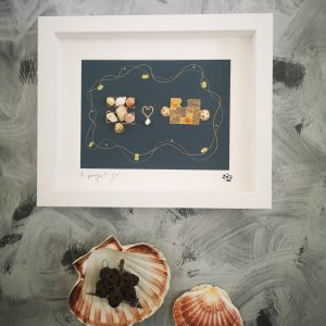 A Perfect Fit Framed Shell Art