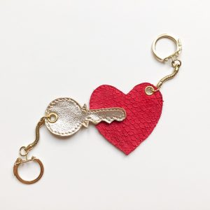 Key-To-My-Heart Leather Keyring