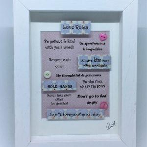 Little Framed Pic: Love Rules