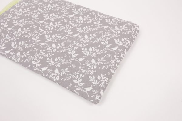 Grey and White Floral Makeup Bag - RX300798