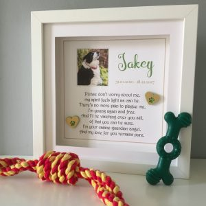 As Cute as a Button Pet memorial Frame