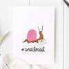 #Snailmail Snail Mail Card