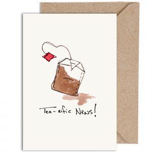 'Tea-rific News!' Greeting Card