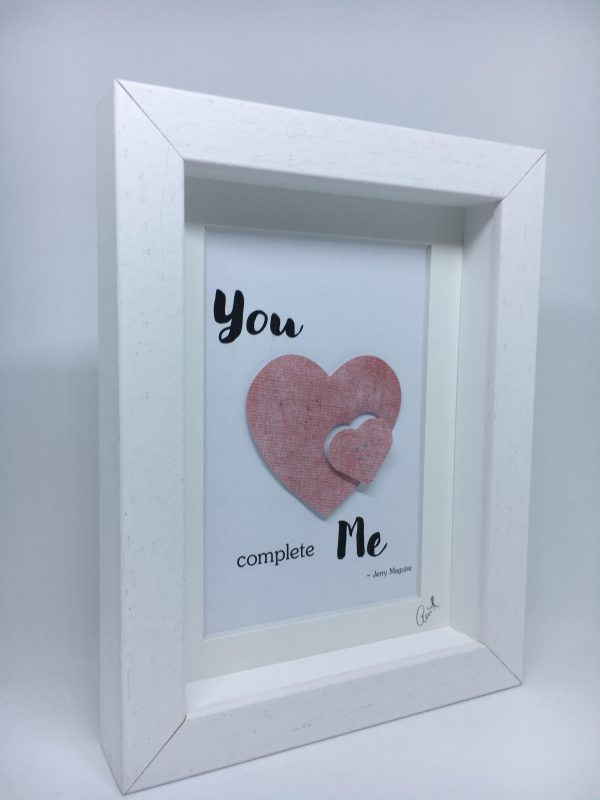 Little Framed Pic: You Complete Me - U Complete Me 2 rotated