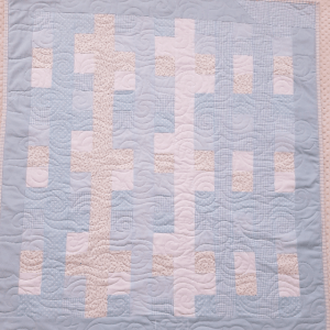 Blues, Gingham and Florals Baby Quilt