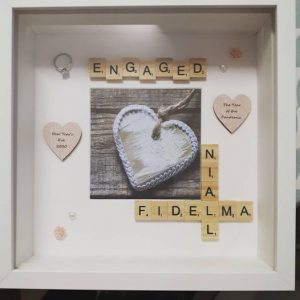 Engagement Frame with Scrabble Letters