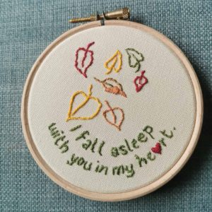 Fall Asleep - Memorial Embroidered Feather