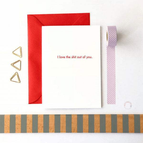 I Love The Shit Out Of You Card - love the shit out of you mockup
