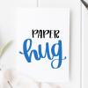 Blue Paper Hug Card
