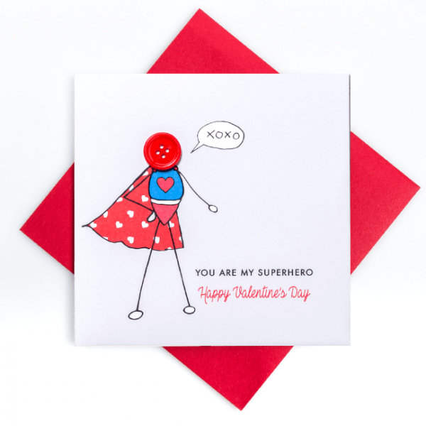 Super Boy Valentine's Card - superhero Boy irish card Valentine s Day 2