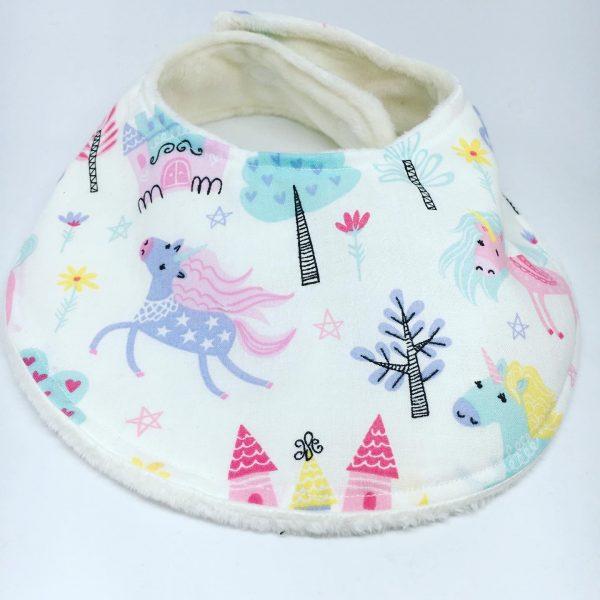 Baby Bib Dinosaur Unicorn Castle